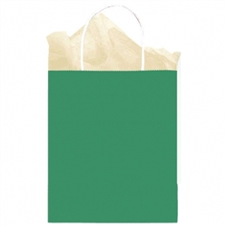 Green Medium Solid Kraft Paper Bags | Party Supplies
