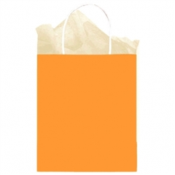Orange Solid Medium Kraft Bags | Party Supplies