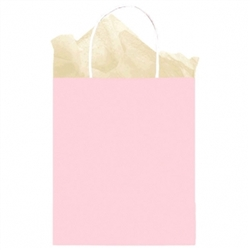 Pink Solid Medium Kraft Bags | Party Supplies
