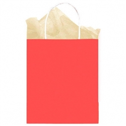 Red Medium Solid Kraft Paper Bags | Party Supplies