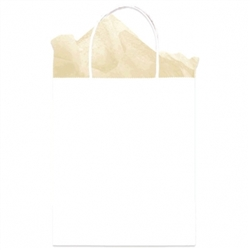 White Solid Medium Kraft Bags | Party Supplies