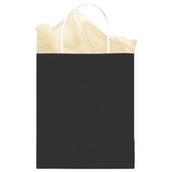 Black Solid Medium Kraft Bags | Party Supplies