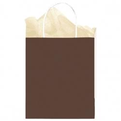 Chocolate Solid Medium Kraft Bags | Party Supplies