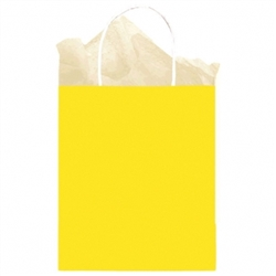 Yellow Solid Medium Kraft Bags | Party Supplies