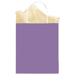 Purple Solid Medium Kraft Bags | Party Supplies