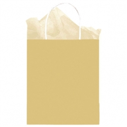 Gold Solid Medium Kraft Bags | Party Supplies