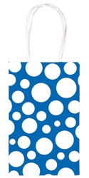 Bright Royal Blue Dot Printed Cub Bags | Party Supplies