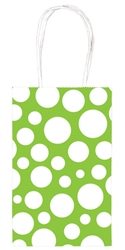Kiwi Dot Printed Cub Bags | Party Supplies