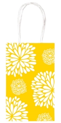 Sunshine Yellow Printed Cub Bags | Party Supplies