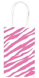 Bright Pink Zebra Printed Cub Bags | Party Supplies