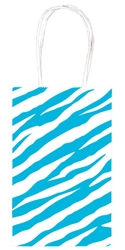 Caribbean Blue Zebra Printed Cub Bags | Party Supplies