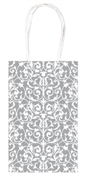 Silver Brocade Printed Cub Bags | Party Supplies