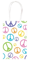 Peace Sign Printed Cub Bags | Party Supplies