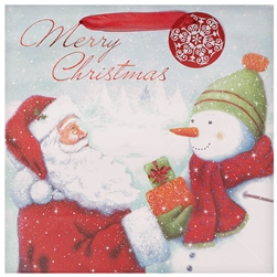Traditional Santa Large Square Bags | Party Supplies