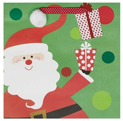 Whimsical Santa Large Square Bags | Party Supplies