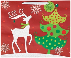 Contemporary Reindeer Extra Large Vogue Bags | Party Supplies