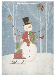 Traditional Snowman Jumbo Bags | Party Supplies