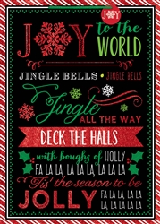Whimsical Chalkboard Carols Jumbo Bags | Party Supplies