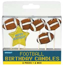 Football Birthday Candles | Sport Theme Birthday