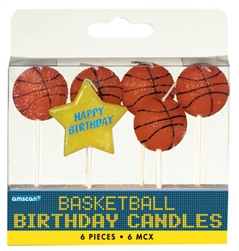 Basketball Fan Birthday Pick Candles | Party Supplies