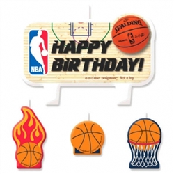 Spalding Basketball Birthday Candle Set | Party Supplies