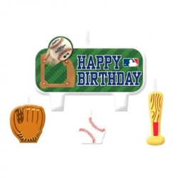 MLB Birthday Candle Set | Party Supplies