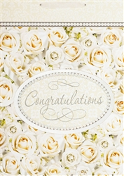 Congratulations In White Giant Specialty Bags | Party Supplies