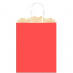 Red Large Solid Kraft Paper Bags | Party Supplies