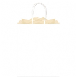 White Solid Large Kraft Bags | Party Supplies