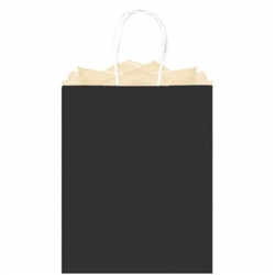 Black Solid Large Kraft Bags | Party Supplies