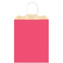Fuschia Solid Large Kraft Bags | Party Supplies