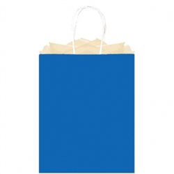 Royal Blue Solid Large Kraft Bags | Party Supplies
