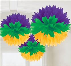 Mardi Gras Fluffy Decorations | Mardi Gras Party Decorations