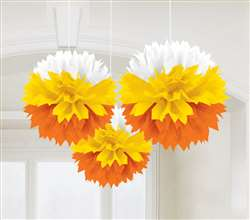 Candy Corn Fluffies Hanging Decorations