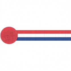 Patriotic Crepe Streamer | Party Supplies