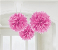 Pink Fluffy Hanging Decorations | party decorations
