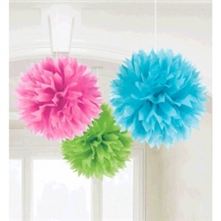Multi Color Fluffy Decorations | Luau Decorations