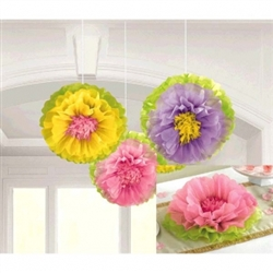 Spring Flower Fluffy Decorations | Party Supplies