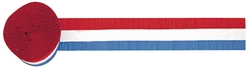 Red/White/Blue Crepe Streamer | Party Supplies
