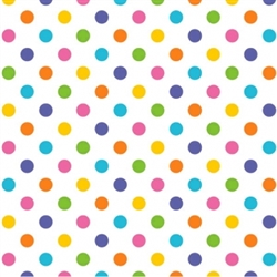 Multi Dot Printed Tissue - 8/piece | Party Supplies