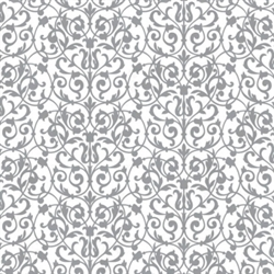 Silver Brocade Printed Tissue - 8/piece | Party Supplies