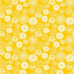 Yellow Mum Printed Tissue - 8/piece | Party Supplies