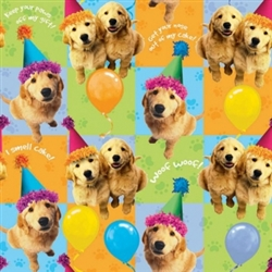 Puppies Gift Wrap | Party Supplies