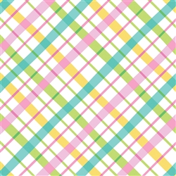 Pastel Plaids Gift Wrap | Party Supplies