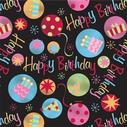 Neon Dots Gift Wrap | Party Supplies