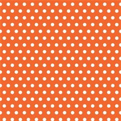 Orange Polka Dot Gift Wrap | Party Supplies