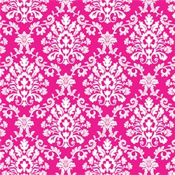 Bright Pink Brocade Gift Wrap | Party Supplies