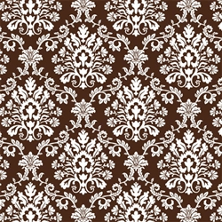 Chocolate Brown Brocade Gift Wrap | Party Supplies