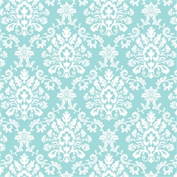 Robin's-egg Blue Brocade Gift Wrap | Party Supplies