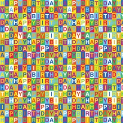 Happy Birthday Checkerboard Gift Wrap | Party Supplies